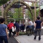 夏越祭 茅の輪作り