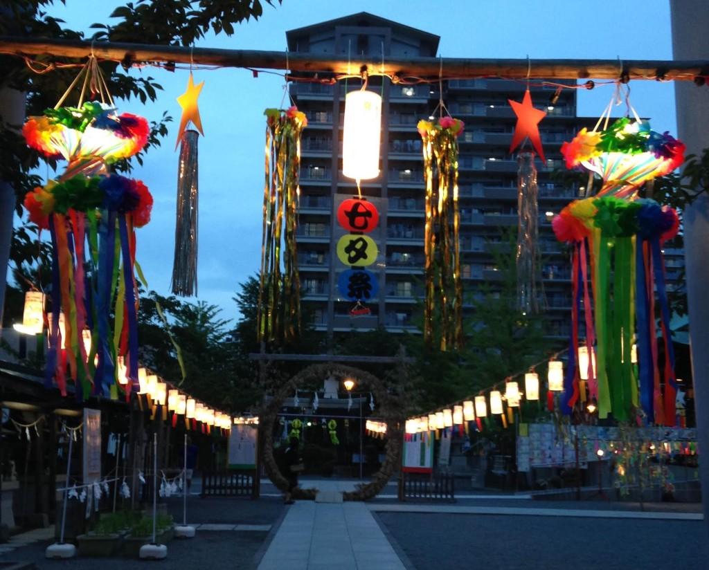 浅間神社ライトアップ