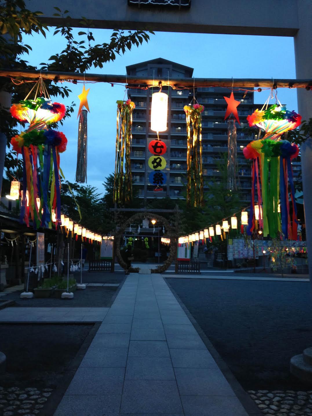 浅間神社境内ライトアップ